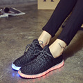 Unisex Led Shoes men Solid 2016 New Fashion Schoenen Casual Chaussures Lumineuse Light Up Shoes black white flats shoes ww80