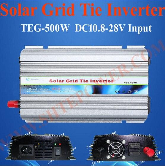 Grid Tie Inverter 500W DC 10.8-28V to AC 220V 230V 240V Inverter For Home Use maylar 22 60vdc 300w dc to ac solar grid tie power inverter output 90 260vac 50hz 60hz