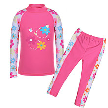 323f9e95c56 BAOHULU Two-Piece Suits Girls Swimsuit Kids Short   Long Sleeves Children  Clothes Holiday Swimming · 6 Colors Available