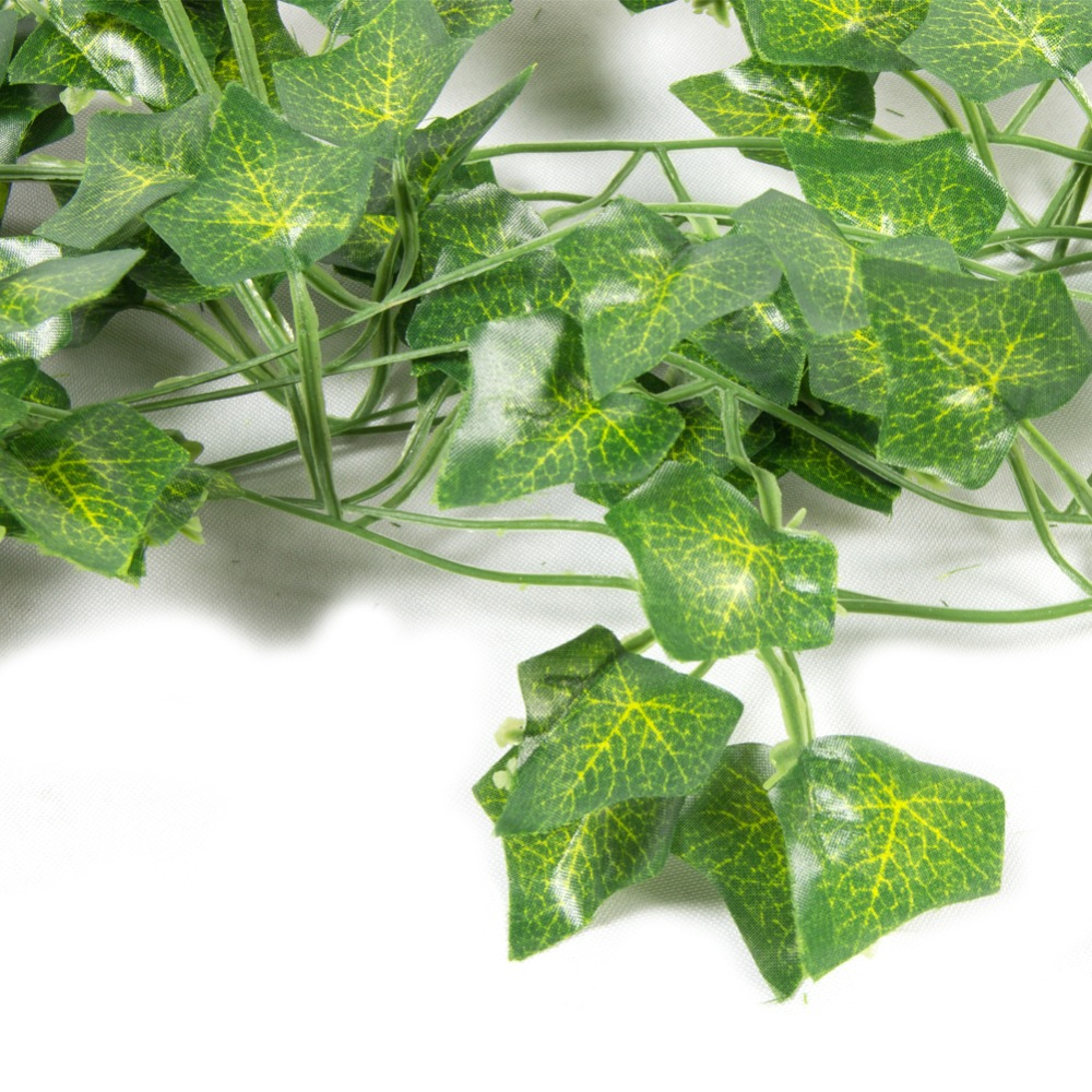 1pcs 2M Green Artificial Ivy Leaf Garland Plants Vine Silk Fake Foliage Flowers Bonsai Leaf Home Garden Wedding Party Decoration in Artificial Plants from Home Garden