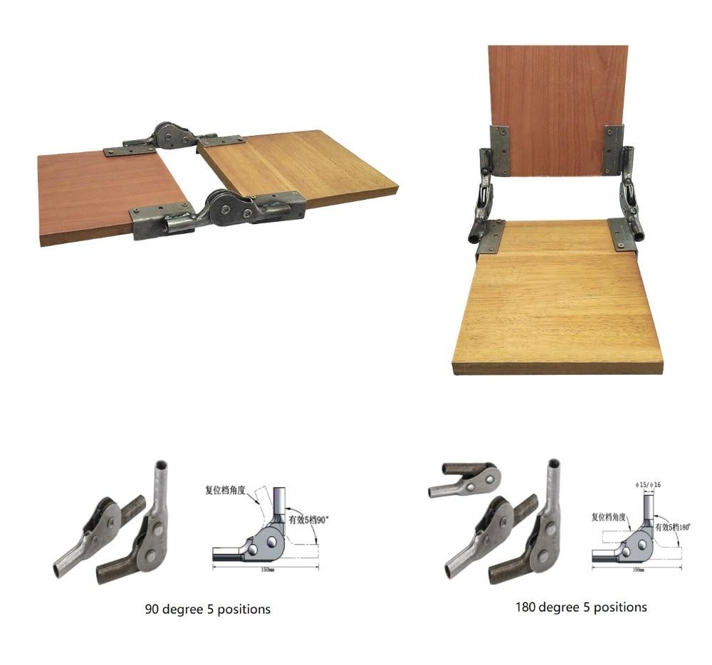 1Pair Premintehdw Adjustable Folding Ratchet Sofa Hinge Chair Hinge For Armrest Backrest 5 Positioned welded Mounting L Plate