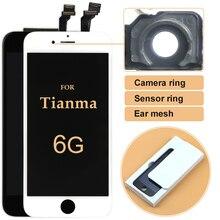 10pcs สำหรับ iPhone 6 LCD คุณภาพสูงสำหรับ Tianma จอแสดงผล LCD 4.7 นิ้ว Touch Screen Digitizer ASSEMBLY + กล้องแหวนของขวัญ