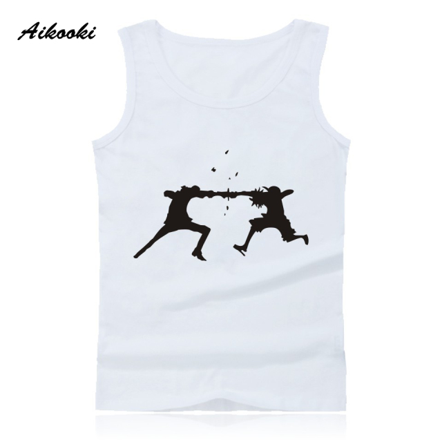 decb188d6d66f Aikooki Anime A Luffy and Ace Vest Men Women Casual Sleeveless Cotton Tank  Top Hip Hop Summer Male Female Pop Fashion Vest Tops-in Tank Tops from ...