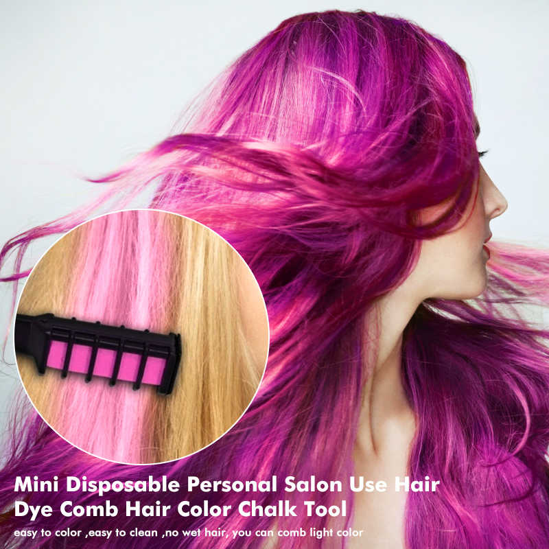 Professional ชอล์กชั่วคราวหวีผมสี Dye Personal Salon Unisex หลายสีผมหวีดินสอสีย้อมเครื่องมือ TSLM2
