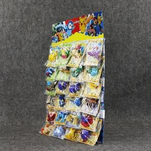 Image 2 - Lot de 24 jouets figurines balle 2 6cm, Mini modèle avec cartes, boule karizard Eevee Bulbasaur Suicune
