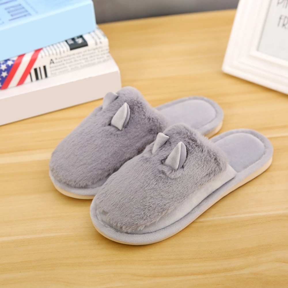 Winter Home Floor Slippers Shoes Anti-skid Sole Quiet Warm Slippers With Fur Indoor Sandals Casual Lovely Slippers For Loversnew cbjsho lovely floor soft warm home slippers shoe cotton winter slippers women plush winter comfortable indoor fur slippers woman