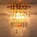Modern simple Crystal lamp European living room wall lamp hotel Restaurant corridor decorative lamps bedroom bedside wall lights