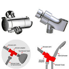 Top spray three-way flower spray socket water splitter shower arm splitter