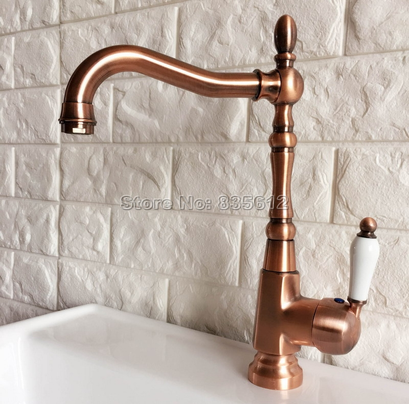 Kitchen Faucet Red: New Arrivals Fashion Antique Red Copper Bathroom & Kitchen