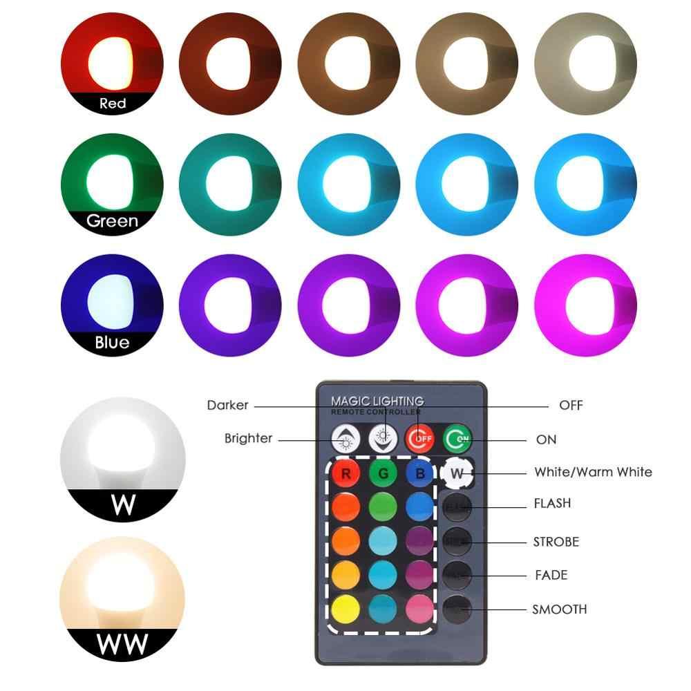 LED RGB ampul RGBW RGBWW E27 5W 10W 15W Spot ışık uzaktan renkli tatil parti Bar AC220V 240V ev dekor gece lambası