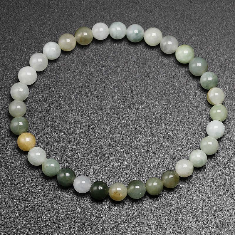 Natural Genuine AAA Mianmar Esmeralda Pulseiras Sorte Amuleto Jade Pulseira Pulseiras Para Homens e Mulheres Presente Jóias de Pedras Preciosas
