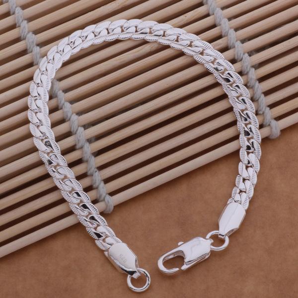 AH086 925  wholesale silver bracelet, 925 sterling silver fashion jewelry 10 m full lateral bracelet /bhiajypa auzajmga