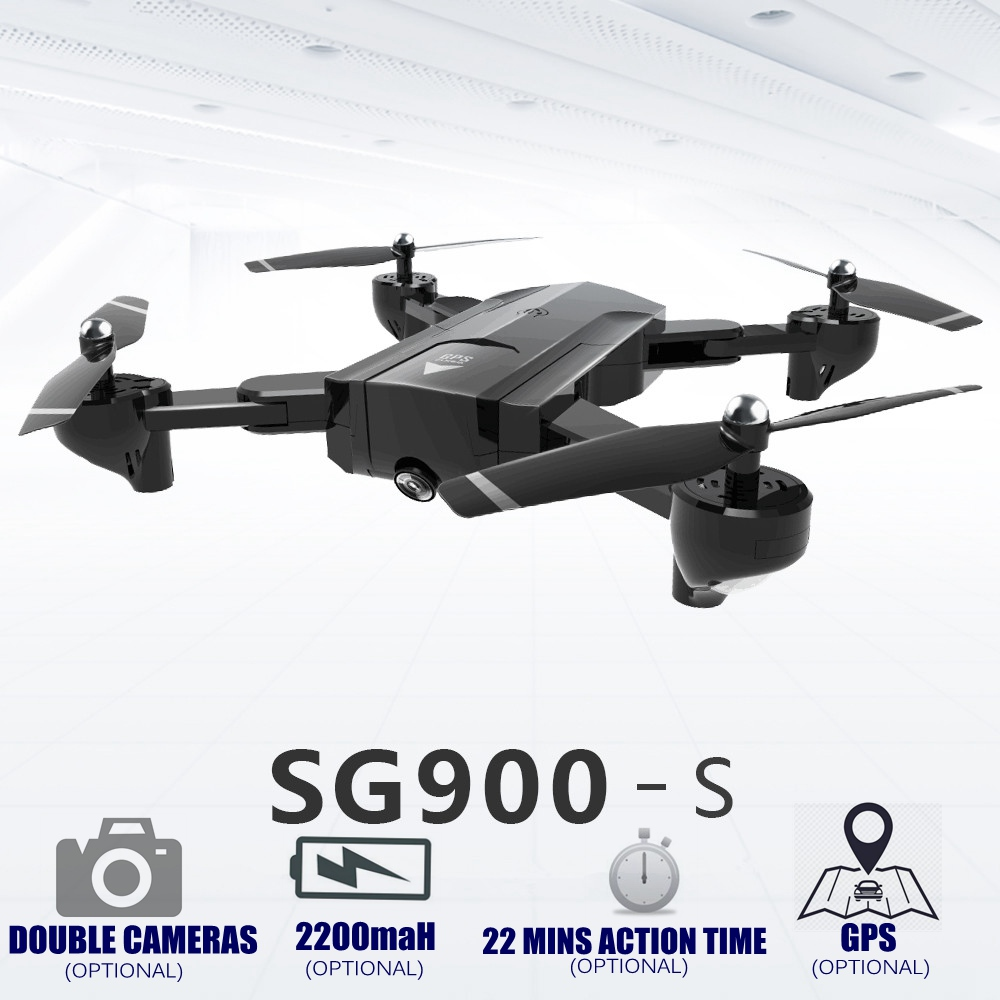 RC Helicopter With HD WiFi Camera Professional Double camera GPS Drone Automatic Follow RC Quadcopter SG900 SG900s Foldable Dron цены