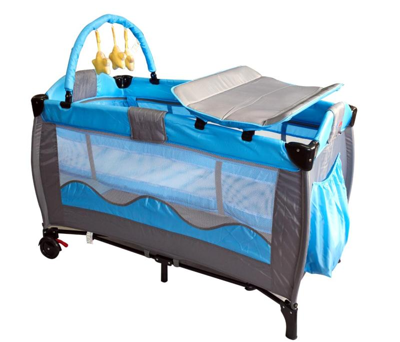 Large Size Multifunction European Portable Play Game Bed Easy Folding Crib Cradle Bed With Rollerplay BedBaby Sleeping Bed 0-6Y
