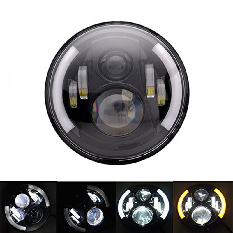 China supplier wholesale Best price 7inch 60W Hi/Lo beam with angel eyes  wrangler led headlight good price waterproof magic led ball supplier ip 68 supplier