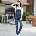 New 2017 Embroidery Patch Denim Rompers Womens Jumpsuit Jeans Overalls Elegant Casual Denim Overalls Women Slim Jumpsuit  E2