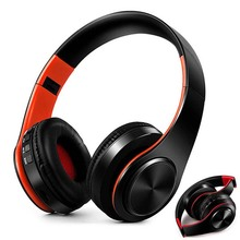 Auriculares plegables inalámbricos con Bluetooth, auriculares estéreo ajustables con micrófono, tarjeta TF, reproducción de MP3 para teléfono móvil