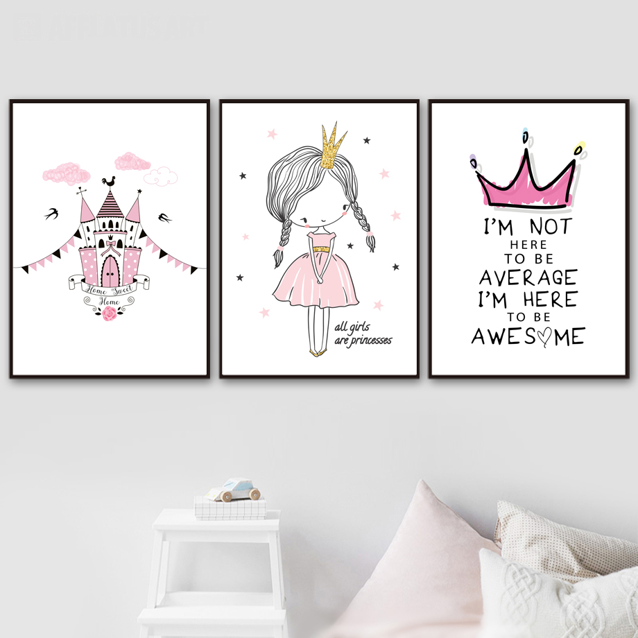 Be A Unicorn Quote Wall Art Decor Girl/'s Baby Flower Princess Picture Bedroom