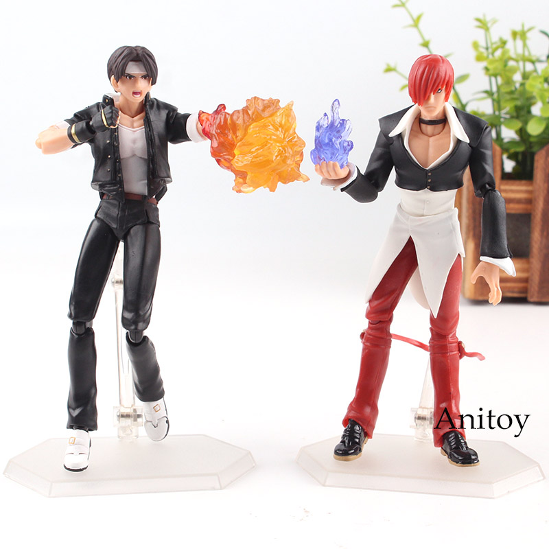 The King of Fighters Figures of Games Figma 094 Kyo Kusanagi / Figma 095 Iori Yagami PVC Action Figure Collection Model Toy