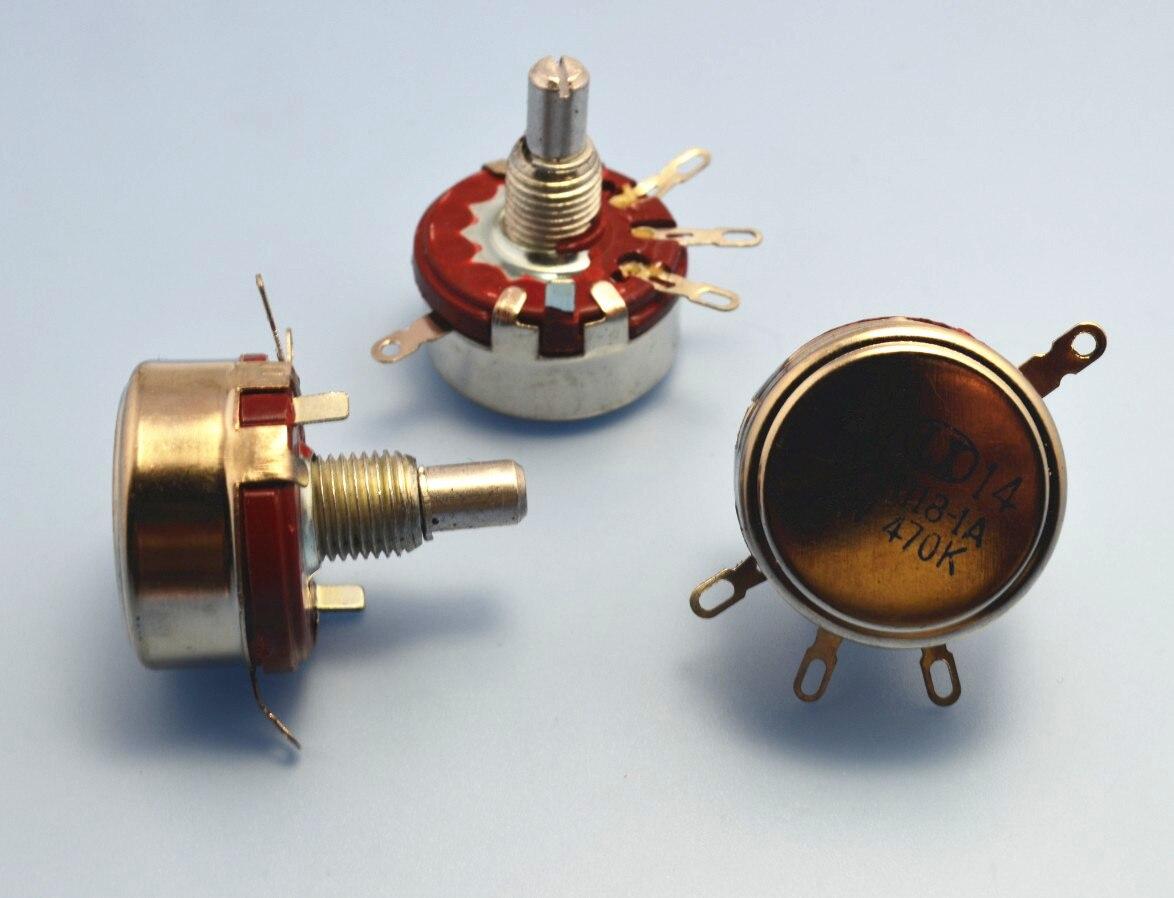 2 x Full Size 220K Ohm 2W 2Watt Linear Taper Carbon Potentiometer Pot