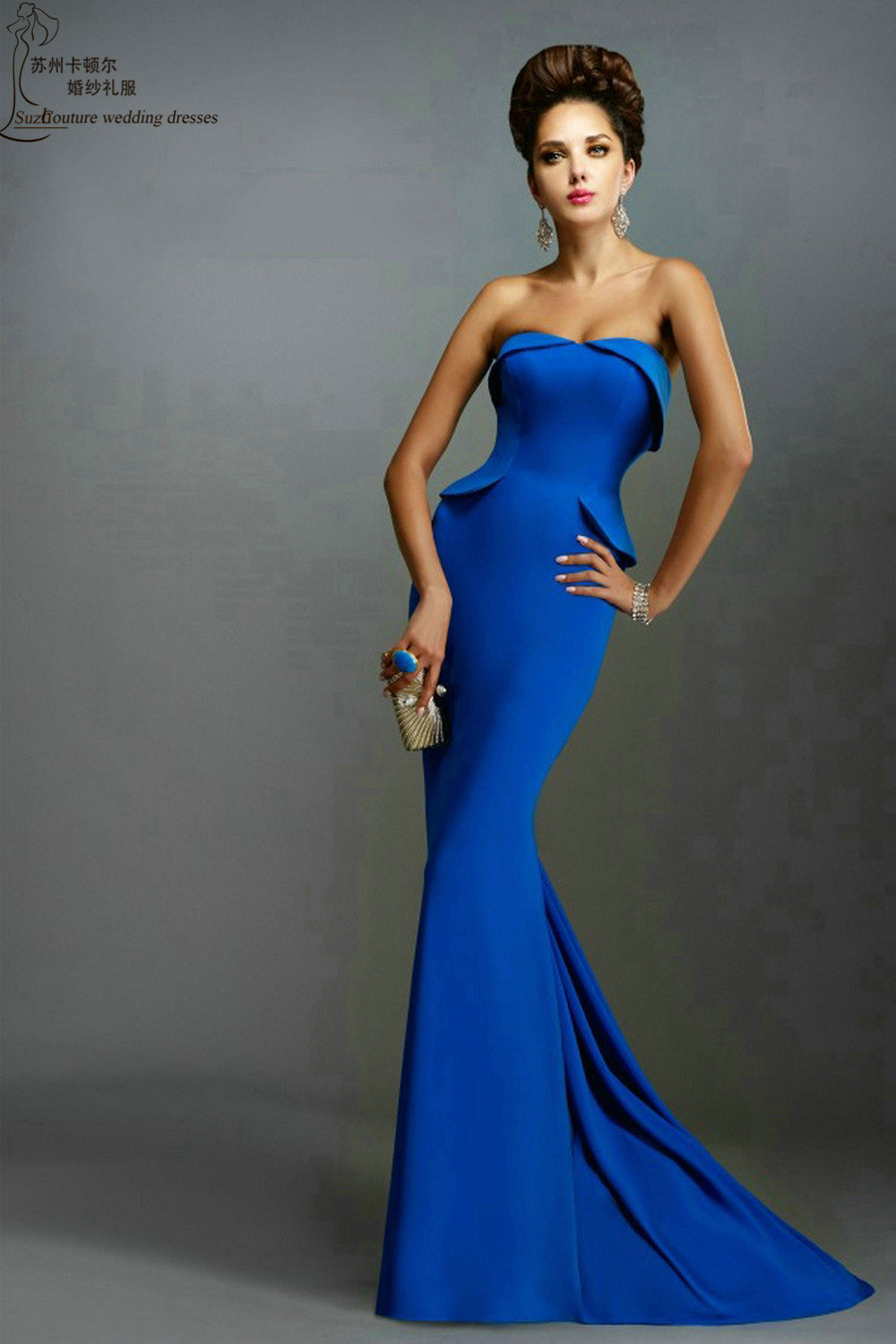 Royal blue prom dress PM1167 elegant long mermaid prom dresses ...