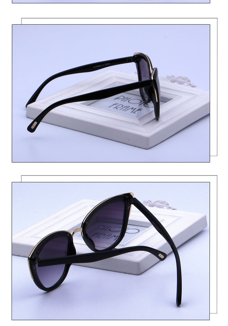Curtain Lunette Soleil Femme 19 New Fashion Cat eye Sunglasses Women Luxury Vintage Sun Glasses Wild Gradient Mirror Glasses 11