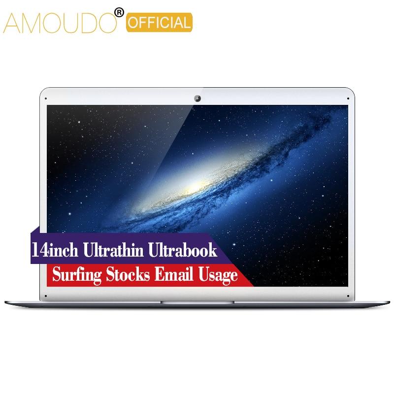 AMOUDO 14 pouces Intel Quad Core CPU Wifi Bluetooth ultra-mince surf film Stock Email Ultrabook ordinateur portable ordinateur portable
