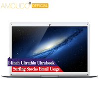 AMOUDO 14inch Intel Quad Core CPU Wifi Bluetooth Ultrathin Surfing Movie Stock Email Ultrabook Laptop Notebook Computer