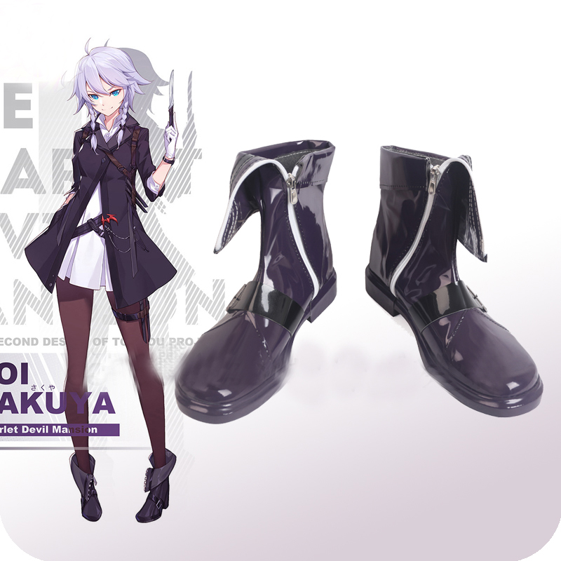 Touhou Project Flandre Scarlet Izayoi Sakuya Cosplay Shoes Boots Halloween Carnival Party Costume Accessories