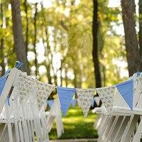 カラフルな綿生地フラグやバナー結婚式ホオジロの装飾ペナントベビーシャワーの誕生日パーティー用