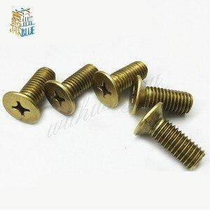 20PCS Copper Countersunk Head Screws M2* 4/5/6/8/10/12mm GB819