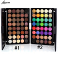 LEARNEVER 40 Colors Eyeshadow Palette With Eye Primer Luminous Eye shadow Palette Band Makeup cosmetics M02690