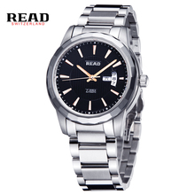 Read Brand Men's Stainless Steel Mechanical Hand Wind Skeleton Sport Wrist Watch Business Wristwatches PR162