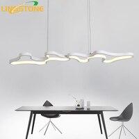 Modern Led Pendant Lights Hanglamp Aluminum Remote Control Dimming Hanging Lighting Fixture Kitchen Lamp Living Room