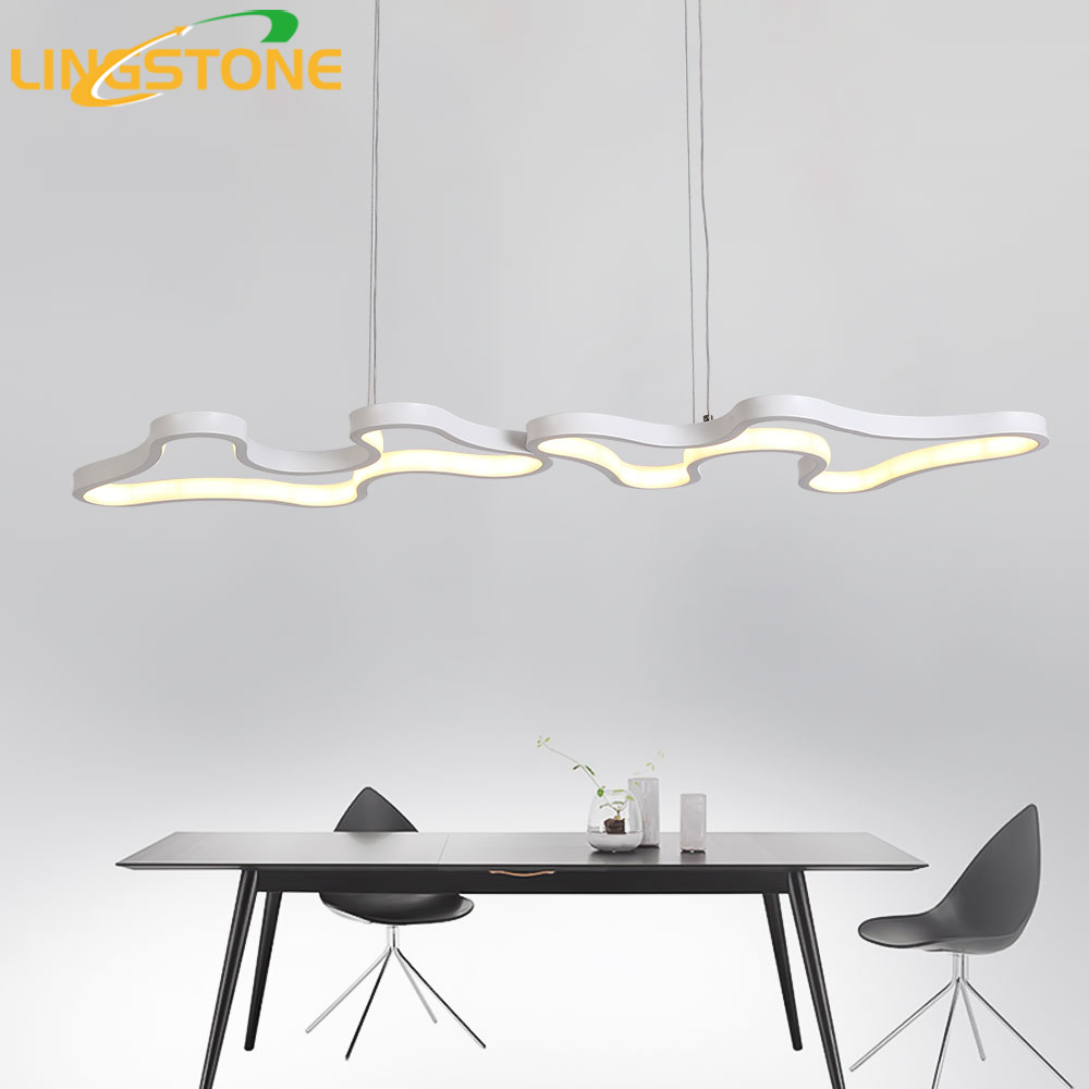 Moderne Led Pendentif Lumières Hanglamp En Aluminium Télécommande Gradation Suspendus Luminaire Cuisine Lampe Salon Restaurant