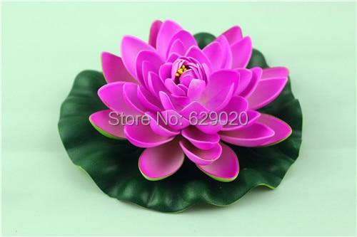 1 Pcs Artificial Lotus Flower Faux Silk Floating Flower Fake Craft