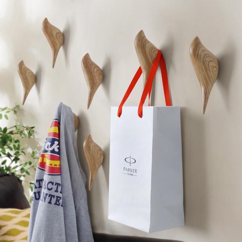 1 UNIDS Hogar creativo pared decoración de aves colgar gancho puerta colgar ganchos tridimensional solo