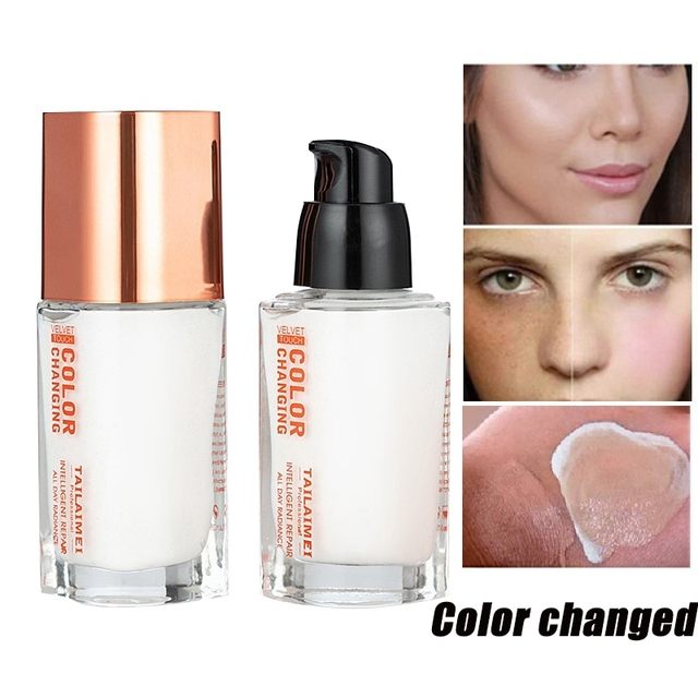 35 ML Color Changing Foundation Makeup Base Nude Face Liquid Cover Concealer Makeup Skin Cosmetics  Gift Sombras N3 5