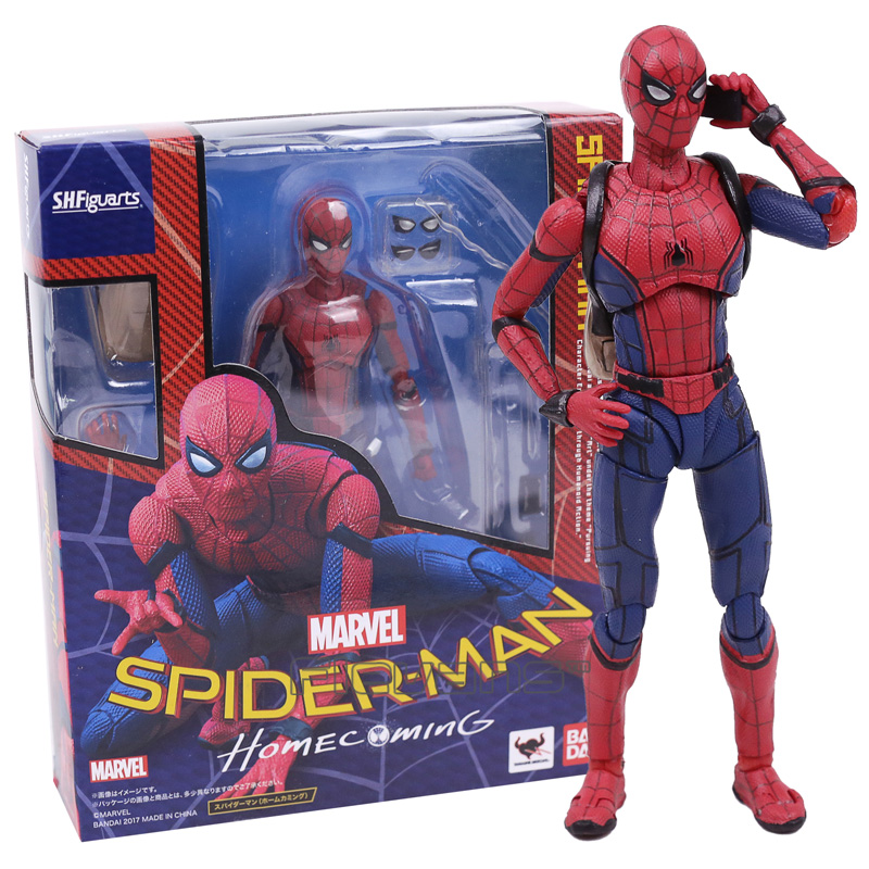 SHFiguarts Spider Man Homecoming Spiderman PVC Action Figure Collectible Model Toy with Retail Box avengers movie hulk pvc action figures collectible toy 1230cm retail box
