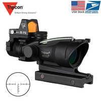 Trijicon Acog 4x32 Optic Scope Riflescope Red Cahevron Reticle Fiber Green Illuminated Optic Sight With Rmr Mini Red Dot Sight