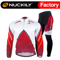 Nuckily summer men's new arrival high tech training compression long cycling jersey sets    MC008MD008