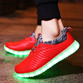 2017 Light Led Shoes Womens Casual Luminous Lighted Shoes For Adults Unisex Usb Rechargeable Light Flats Glowing Valentine Shoes