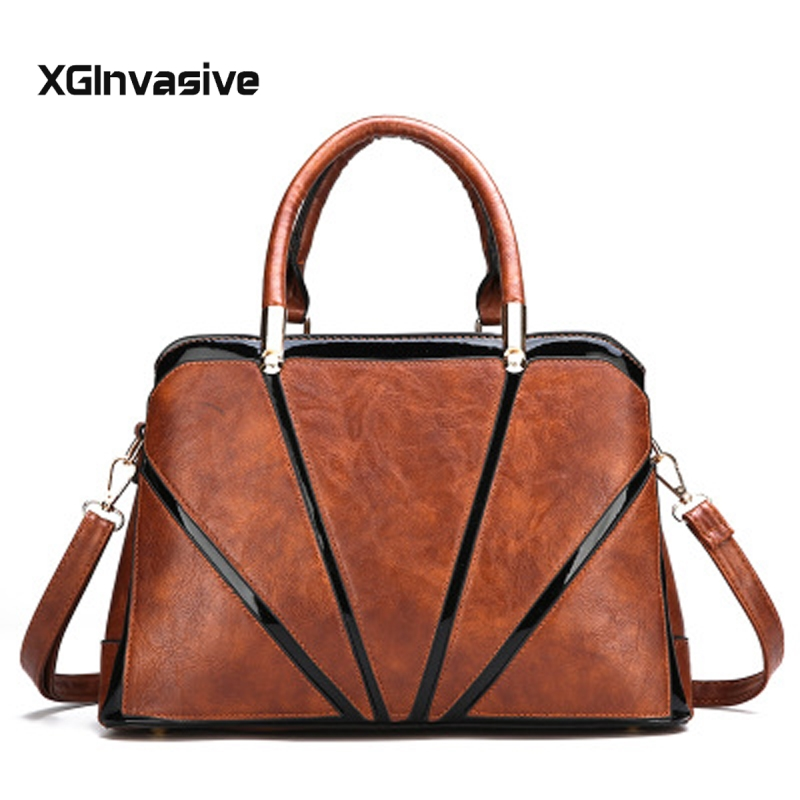 High Quality Leather Striped Handbags Women Messenger Bags Designer Crossbody Bag Women Shoulder Bag Top handle