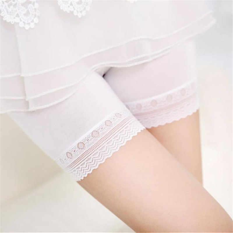 Mode Vrouwen Kant Veiligheid Broek Korte Rok Onder Veiligheid Broek Ondergoed Shorts Dames Kant Hoge Taille Tummy Veiligheid Broek