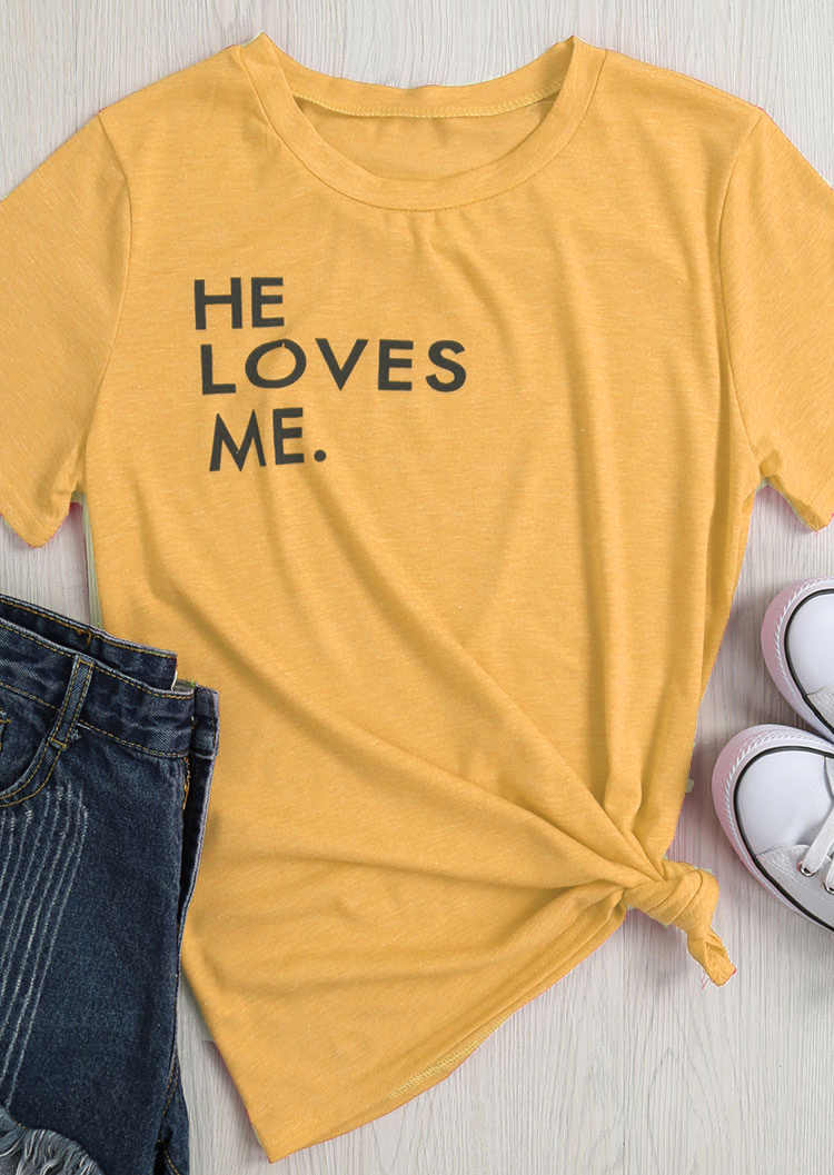 He Loves Me T Shirt Tumblr Short Slevee Yellow Tee 90s Grunge Slogan Tops Aesthetic Girl Love Popular Graphic T Shirt Drop Ship T Shirts Aliexpress