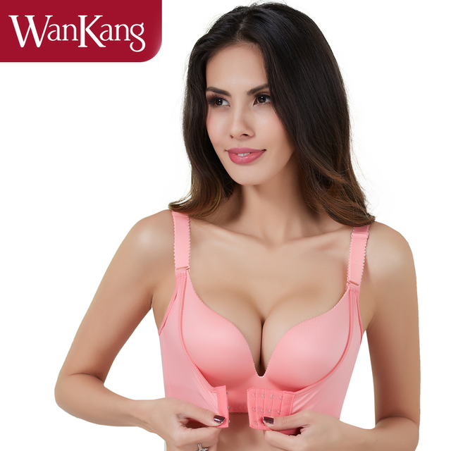 Super Push Up Bra For Small Breast Young Girls Front Closure Seamless Wireless Underwear Bras For Women New Soild Push Up Bra