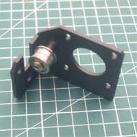 1pcs CR-10 3D printer parts black anodized aluminum Y Axis Parts Nema 17 motor Bracket for 2040 extrusion