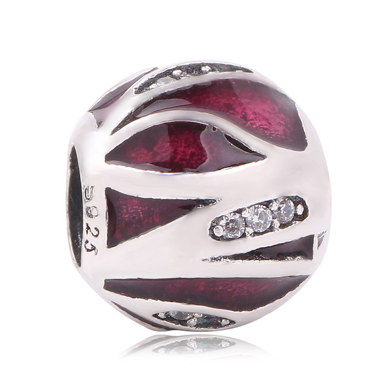 5fcefee4e ... Stone European style Couqcy Bead Fit Pandora Charm Bracelets Original  925 Sterling Silver Red Bead 2017 Charm With CZ ...
