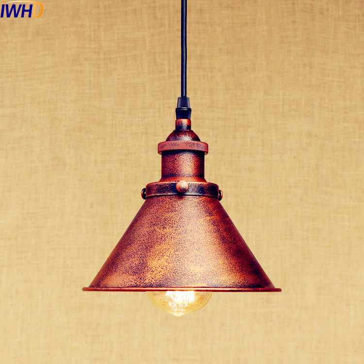 IWHD Rust Retro Edison LED Pendant Lights Fixtures Bar Coffee Style Loft Industrial Vintage Lamp Rustic Lamparas Colgantes america country led pendant light fixtures in style loft industrial lamp for bar balcony handlampen lamparas colgantes