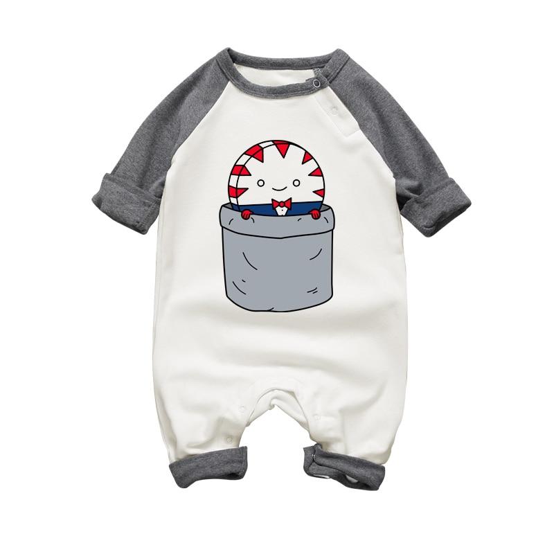 2017 طفل رضيع رومبير بذلة مضحك الكرتون - ملابس للأطفال الرضع